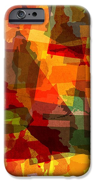 Nebraska iPhone Cases - The Abstract States of America iPhone Case by Design Turnpike