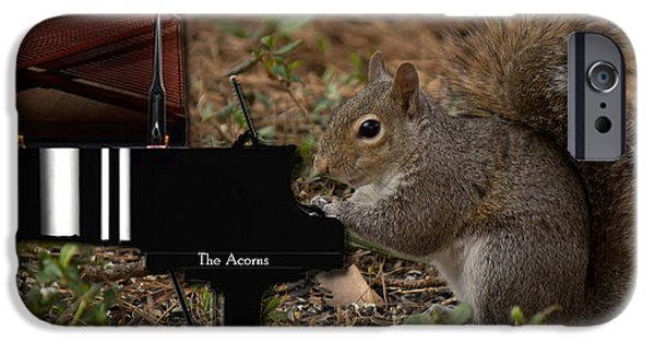 Piano iPhone Cases - The Acorns Pianist iPhone Case by Sandra Clark