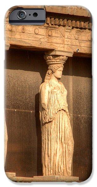 The Acropolis Caryatids iPhone Case by Deborah Smolinske