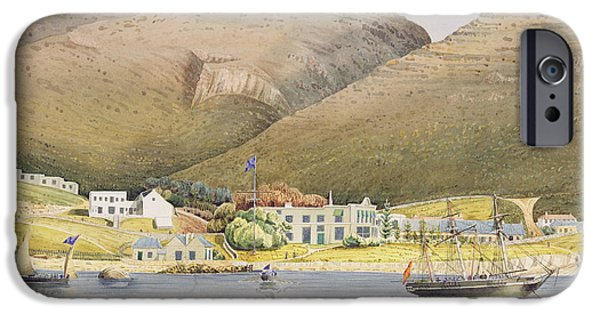 Coast Paintings iPhone Cases - The Admiral House iPhone Case by Humphrey John Julian