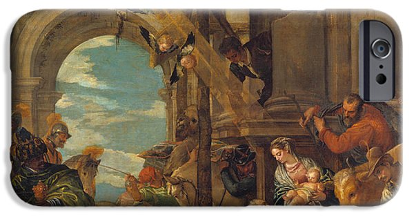 Paolo iPhone Cases - The Adoration of the Kings iPhone Case by Paolo Veronese