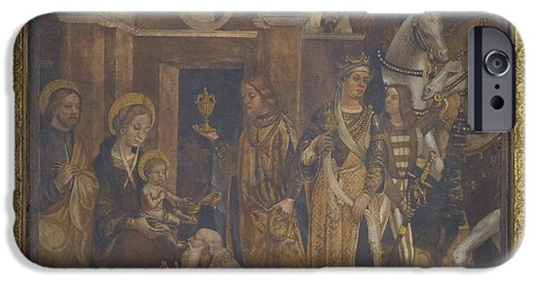 The Followers Paintings iPhone Cases - The Adoration Of The Magi iPhone Case by Celestial Images