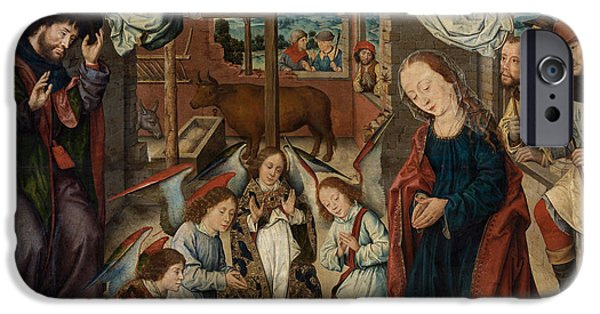 Adoration iPhone Cases - The Adoration of the Shepherds iPhone Case by Albrecht Bouts
