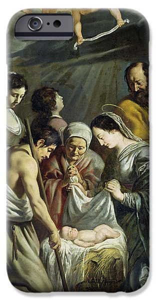 Adoration iPhone Cases - The Adoration Of The Shepherds, C.1630-32 Oil On Canvas iPhone Case by Antoine and Louis Le Nain