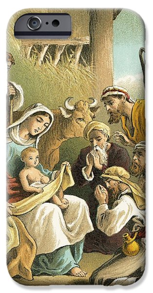 The Adoration of the Shepherds iPhone Case by English School