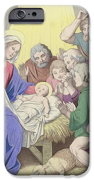 The Adoration of the Shepherds iPhone Case by German School