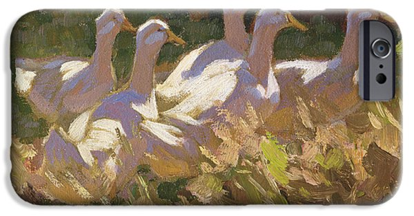 Geese iPhone Cases - The Adventurers iPhone Case by Edgar Downs