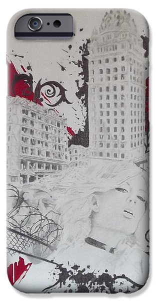 Mix Medium Drawings iPhone Cases - The After iPhone Case by Asev One