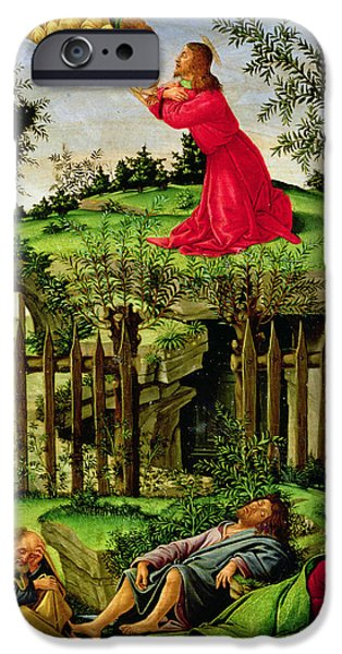 Jesus Photographs iPhone Cases - The Agony In The Garden, C.1500 Oil On Canvas iPhone Case by Sandro Botticelli