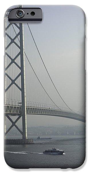 Kobe Photographs iPhone Cases - The Akashi Kaikyo Bridge iPhone Case by Daniel Hagerman