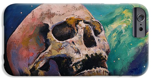 Nebula Paintings iPhone Cases - The Alchemist iPhone Case by Michael Creese