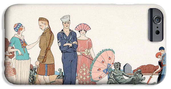 Worn In iPhone Cases - The Allies at Versailles iPhone Case by Georges Barbier