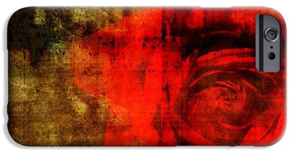 Epic Amazing Colors Landscape Digital Modern Still Life Trees Warm Natural Earth Organic Paint Photo Chic Decor Interior Design Brett Pfister Art Digital Art Iphone Cases Digital Art iPhone Cases - The Allure Of A Rose iPhone Case by Brett Pfister