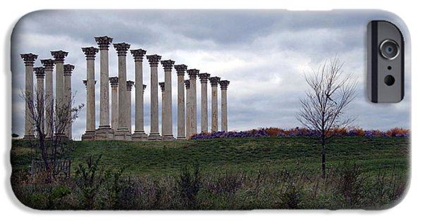 Cora Wandel iPhone Cases - The Almost Forgotten Columns -- 2 iPhone Case by Cora Wandel