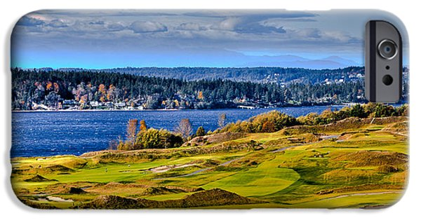 Us Open iPhone Cases - The Amazing Chambers Bay Golf Course - Site of the 2015 U.S. Open Golf Tournament iPhone Case by David Patterson