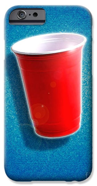 Amazing Digital Art iPhone Cases - The Amazing Red Solo Cup iPhone Case by Cristophers Dream Artistry