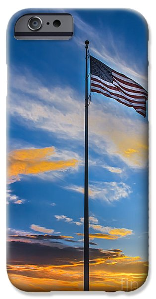 Betsy Ross iPhone Cases - The American Beauty iPhone Case by Robert Bales