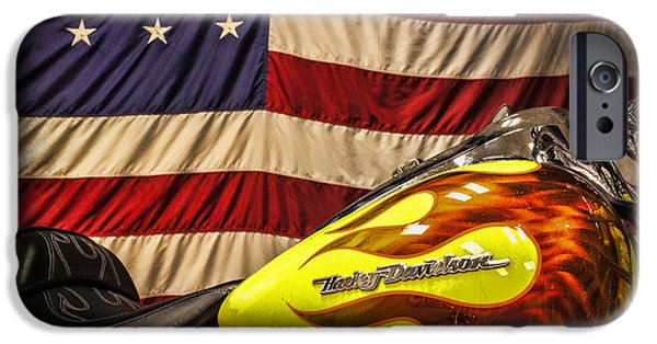 Jeff Swanson iPhone Cases - The American Ride iPhone Case by Jeff Swanson