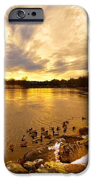 The Androscoggin River between Lewiston and Auburn iPhone Case by Bob Orsillo