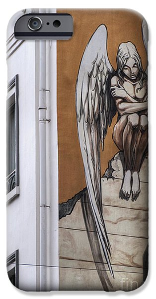 Bandes Dessinees iPhone Cases - The Angel iPhone Case by Juli Scalzi