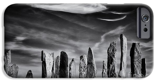 Monolith iPhone Cases - The Angel of Callanish  iPhone Case by Tim Gainey