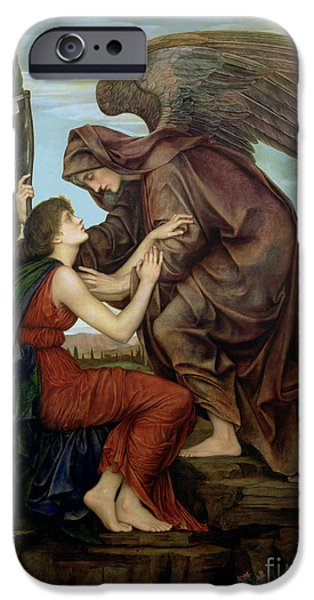 Williams iPhone Cases - The Angel of Death iPhone Case by Evelyn De Morgan