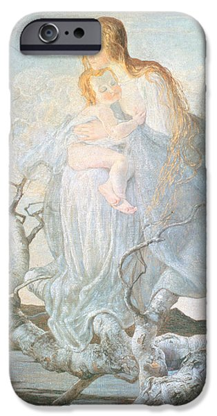 The Angel of Life iPhone Case by Giovanni Segantini