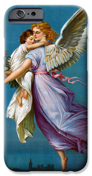 The Followers iPhone Cases - The Angel Of Peace iPhone Case by B T Babbitt