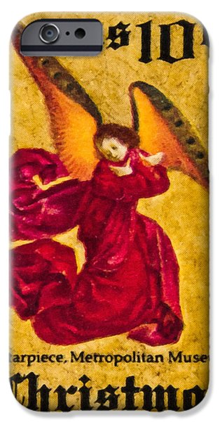 United iPhone Cases - The Angels in Celebration stamp iPhone Case by Lanjee Chee