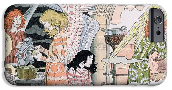 Baby Jesus iPhone Cases - The Angels Kitchen iPhone Case by Eugene Grasset