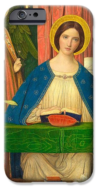 Nineteenth Century iPhone Cases - The Annunciation iPhone Case by Arthur Joseph Gaskin