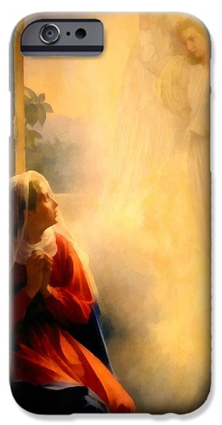The Followers iPhone Cases - The Annunciation iPhone Case by Carl Bloch