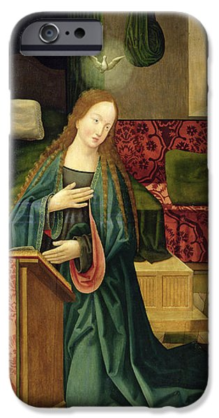 Annunciation iPhone Cases - The Annunciation iPhone Case by German School