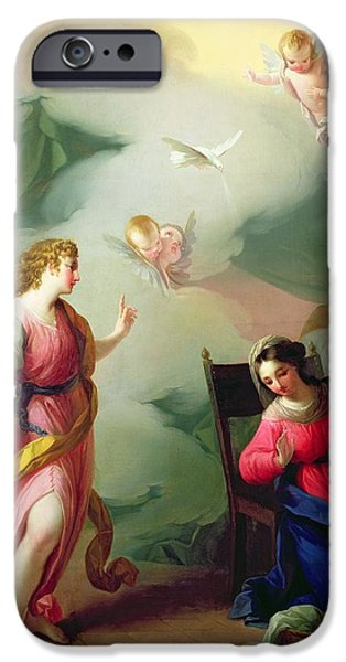 Basket iPhone Cases - The Annunciation iPhone Case by Giuseppe Velasco or Velasquez