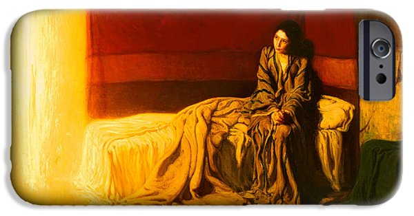 Christian work Paintings iPhone Cases - The Annunciation iPhone Case by Henry Tanner