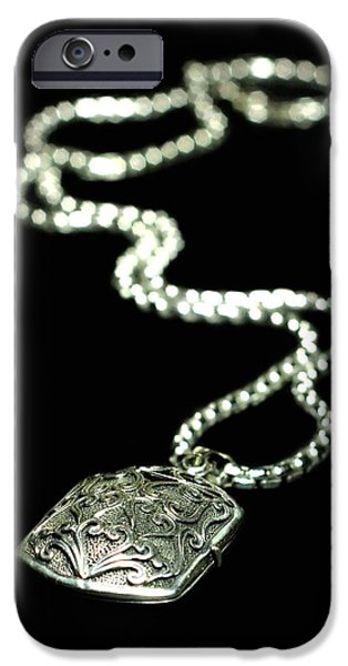 Sterling Silver iPhone Cases - The Antique Locket iPhone Case by Diana Angstadt
