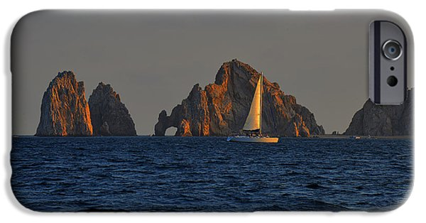 Joy iPhone Cases - The Arch El Arco Cabo San Lucas iPhone Case by Christine Till