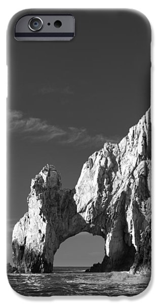 Picturesque iPhone Cases - The Arch in Black and White iPhone Case by Sebastian Musial