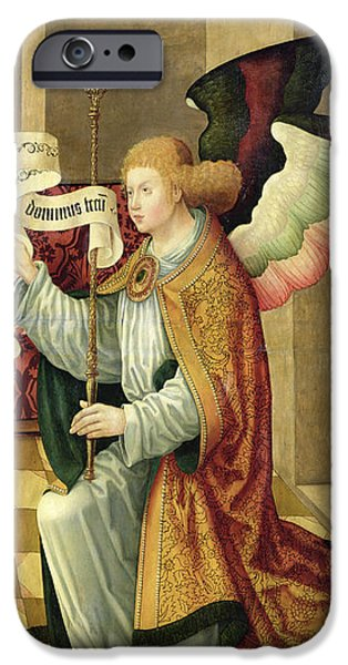Annunciation iPhone Cases - The Archangel Gabriel iPhone Case by German School