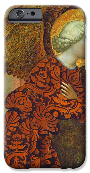 The Archangel Gabriel iPhone Case by Tommaso Masolino da Panicale