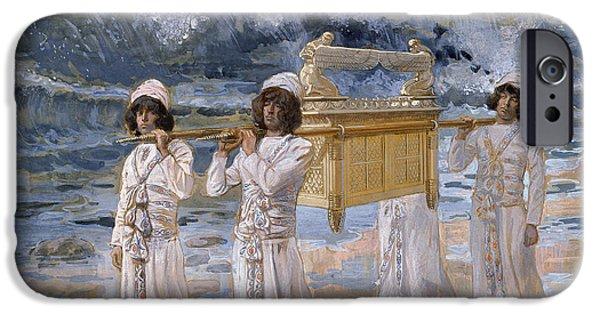 Jordan iPhone Cases - The Ark Passes Over the Jordan iPhone Case by James Jacques Joseph Tissot