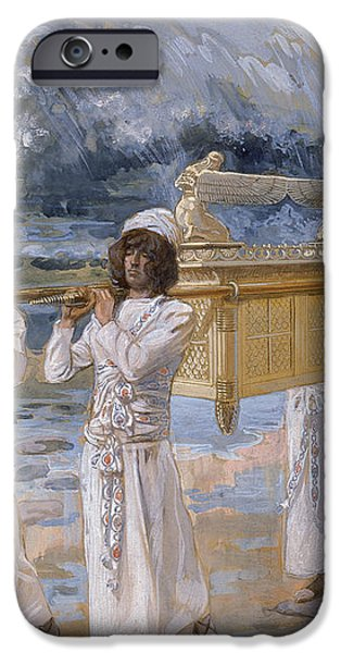 The Ark Passes Over the Jordan iPhone Case by James Tissot