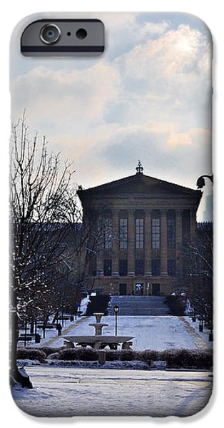 The Art Museum in the Snow iPhone Case by Bill Cannon