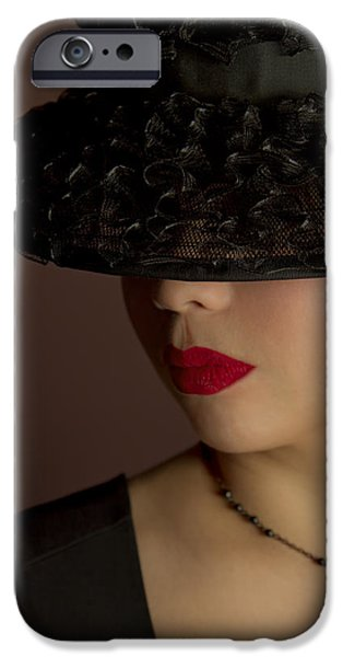 Lips iPhone Cases - The Art Of Being A Woman iPhone Case by Evelina Kremsdorf