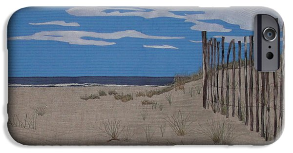 Beach Landscape Tapestries - Textiles iPhone Cases - The Art of Fencing iPhone Case by Anita Jacques