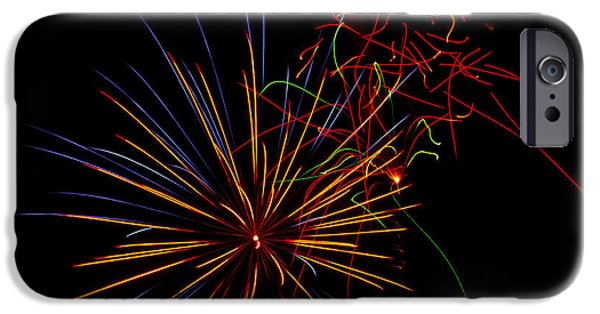 July 4th Photographs iPhone Cases - The Art of Fireworks  iPhone Case by Saija  Lehtonen