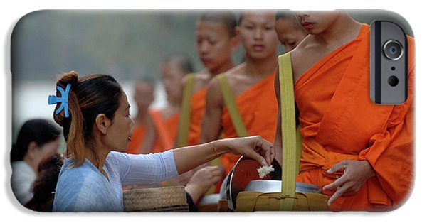 Buddhist Monk iPhone Cases - The Art Of Giving iPhone Case by Bob Christopher