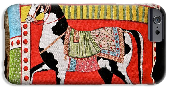 Horse Tapestries - Textiles iPhone Cases - The Art Of Horses iPhone Case by Ira Shander