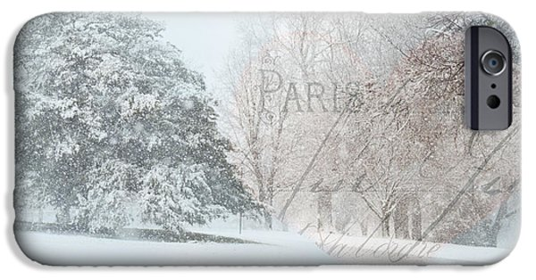 Snow Scene Digital iPhone Cases - The Art of Nature iPhone Case by Betty LaRue