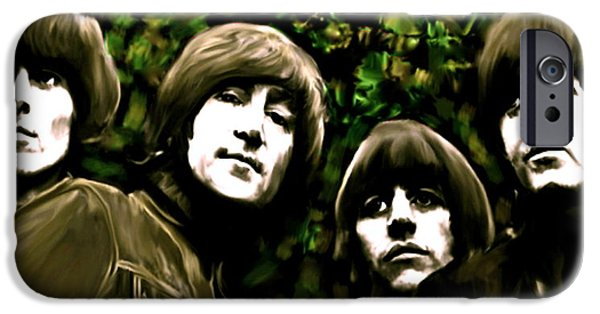 David Drawings iPhone Cases - The Art of Sound  The Beatles iPhone Case by Iconic Images Art Gallery David Pucciarelli